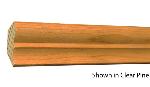 "Profile view of crown molding, product number CR140 9/16""x1-5/8"" Clear Pine $1.00/ft. sold by American Wood Moldings"