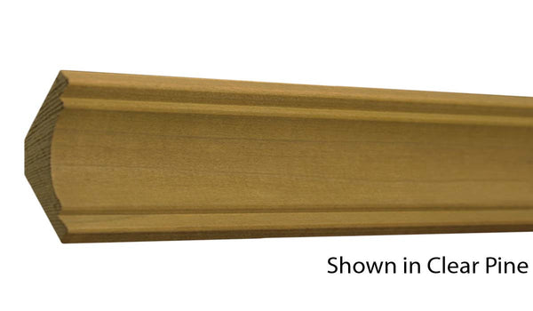 "Profile view of crown molding, product number CR160 5/8""x1-3/4"" Poplar $1.36/ft. sold by American Wood Moldings"