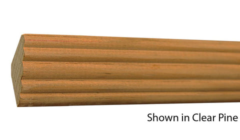 "Profile View of Crown Molding, product number CR-124-020-2-CP - 5/8"" x 1-3/4"" Clear Pine Crown - $1.28/ft sold by American Wood Moldings"