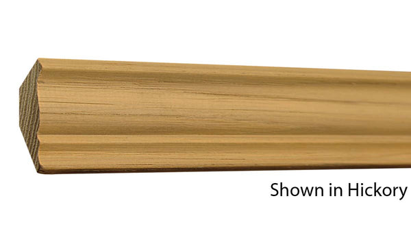 "Profile View of Crown Molding, product number CR-124-022-1-HI - 11/16"" x 1-3/4"" Hickory Crown - $1.72/ft sold by American Wood Moldings"