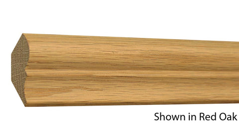 "Profile View of Crown Molding, product number CR-124-024-1-RO - 3/4"" x 1-3/4"" Red Oak Crown - $1.76/ft sold by American Wood Moldings"