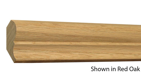 "Profile View of Crown Molding, product number CR-128-024-1-RO - 3/4"" x 1-7/8"" Red Oak Crown - $1.88/ft sold by American Wood Moldings"