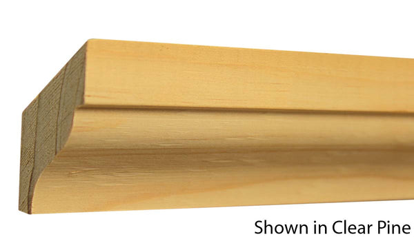 "Profile View of Crown Molding, product number CR-206-028-1-CP - 7/8"" x 2-3/16"" Clear Pine Crown - $2.24/ft sold by American Wood Moldings"