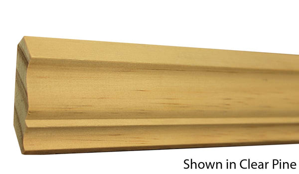 "Profile View of Crown Molding, product number CR-208-018-1-CP - 9/16"" x 2-1/4"" Clear Pine Crown - $1.32/ft sold by American Wood Moldings"