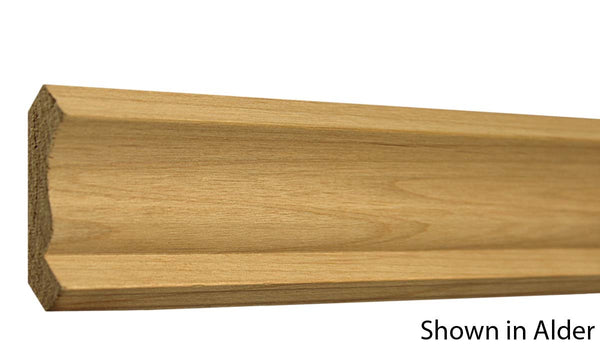 "Profile view of crown molding, product number CR230 5/8""x2-1/4"" Knotty Pine $1.28/ft. sold by American Wood Moldings"
