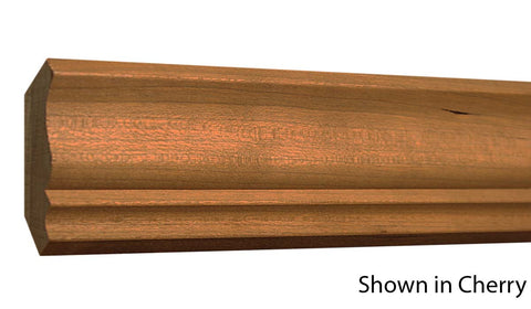 "Profile View of Crown Molding, product number CR-212-022-1-CH - 11/16"" x 2-3/8"" Cherry Crown - $3.28/ft sold by American Wood Moldings"