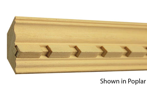 "Profile View of Crown Molding, product number CR-212-100-1-PO - 1"" x 2-3/8"" Poplar Crown - $3.48/ft sold by American Wood Moldings"