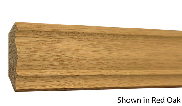 "Profile view of crown molding, product number CR250 3/4""x2-9/16"" Cherry $3.56/ft. sold by American Wood Moldings"