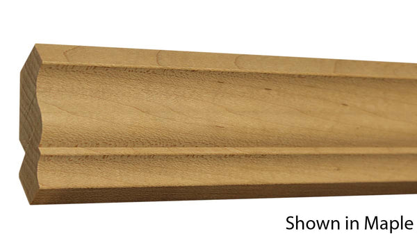 "Profile View of Crown Molding, product number CR-220-026-1-MA - 13/16"" x 2-5/8"" Maple Crown - $3.36/ft sold by American Wood Moldings"