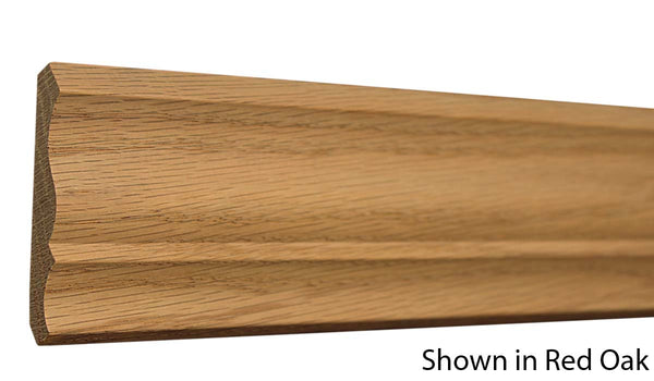 "Profile View of Crown Molding, product number CR-308-015-1-RO - 15/32"" x 3-1/4"" Red Oak Crown - $2.44/ft sold by American Wood Moldings"