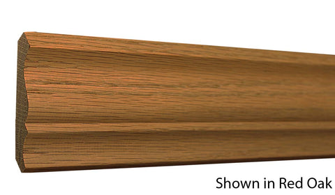 "Profile View of Crown Molding, product number CR-308-018-1-RO - 9/16"" x 3-1/4"" Red Oak Crown - $2.44/ft sold by American Wood Moldings"