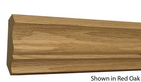 "Profile View of Crown Molding, product number CR-308-022-1-PO - 11/16"" x 3-1/4"" Poplar Crown - $1.48/ft sold by American Wood Moldings"