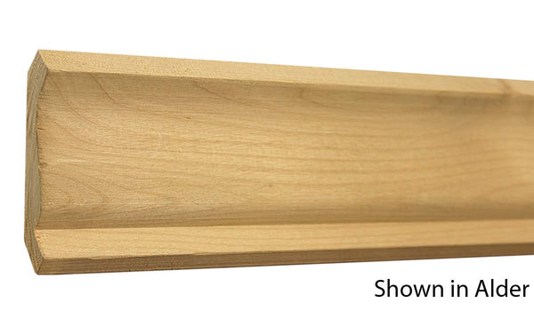 "Profile View of Crown Molding, product number CR-308-022-2-KPI - 11/16"" x 3-1/4"" Knotty Pine Crown - $1.20/ft sold by American Wood Moldings"