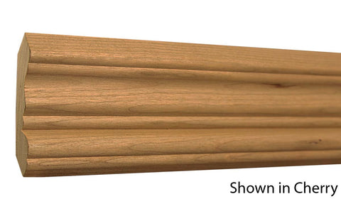"Profile View of Crown Molding, product number CR-308-024-1-RO - 3/4"" x 3-1/4"" Red Oak Crown - $2.44/ft sold by American Wood Moldings"