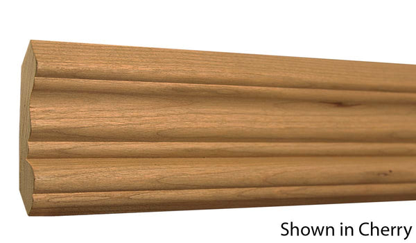 "Profile View of Crown Molding, product number CR-308-024-1-CH - 3/4"" x 3-1/4"" Cherry Crown - $4.08/ft sold by American Wood Moldings"