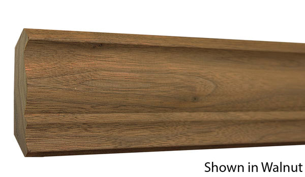 "Profile view of crown molding, product number CR340 3/4""x3-1/4"" Knotty Pine $1.20/ft. sold by American Wood Moldings"