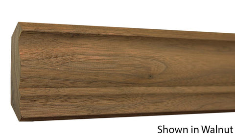 "Profile view of crown molding, product number CR340 3/4""x3-1/4"" Ash $2.24/ft. sold by American Wood Moldings"