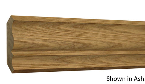 "Profile View of Crown Molding, product number CR-308-024-4-AS - 3/4"" x 3-1/4"" Ash Crown - $2.76/ft sold by American Wood Moldings"