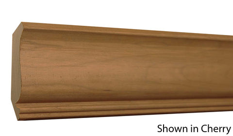 "Profile View of Crown Molding, product number CR-318-024-1-CH - 3/4"" x 3-9/16"" Cherry Crown - $4.12/ft sold by American Wood Moldings"