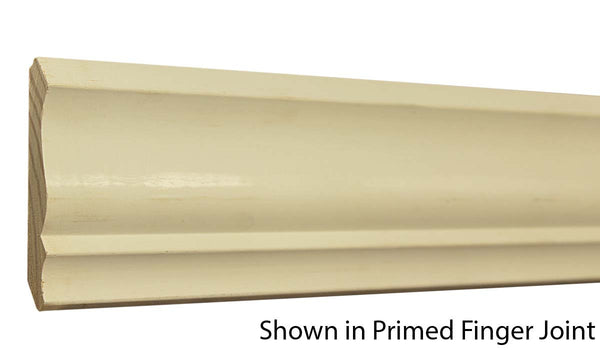 "Profile view of crown molding, product number CR360 9/16""x3-5/8"" Primed Finger Joint $0.96/ft. sold by American Wood Moldings"