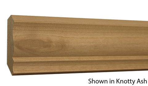 "Profile View of Crown Molding, product number CR-320-024-1-KAL - 3/4"" x 3-5/8"" Knotty Alder Crown - $4.68/ft sold by American Wood Moldings"
