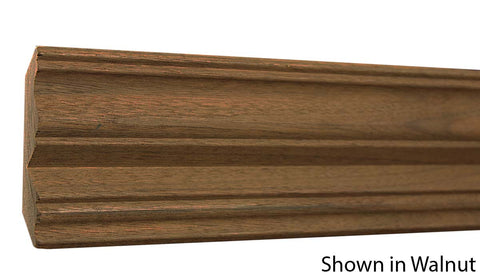 "Profile View of Crown Molding, product number CR-320-026-1-WA - 13/16"" x 3-5/8"" Walnut Crown - $6.76/ft sold by American Wood Moldings"