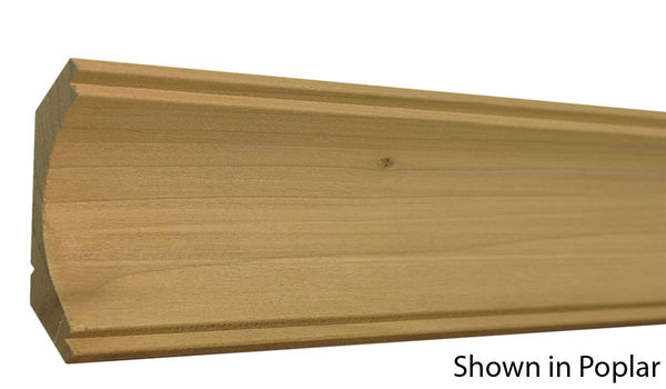 "Profile view of crown molding, product number CR405 13/16""x4"" Poplar $1.80/ft. sold by American Wood Moldings"