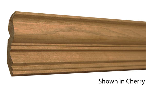 "Profile view of crown molding, product number CR410 13/16""x4-1/8"" Poplar $1.76/ft. sold by American Wood Moldings"