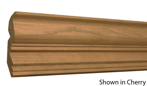 "Profile View of Crown Molding, product number CR-404-026-1-CH - 13/16"" x 4-1/8"" Cherry Crown - $4.92/ft sold by American Wood Moldings"