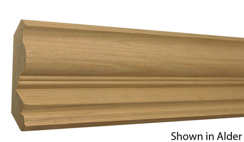 "Profile View of Crown Molding, product number CR-404-028-1-WA - 7/8"" x 4-1/8"" Walnut Crown - $7.64/ft sold by American Wood Moldings"