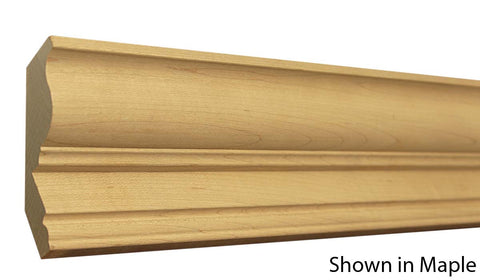 "Profile View of Crown Molding, product number CR-404-030-1-MA - 15/16"" x 4-1/8"" Maple Crown - $3.80/ft sold by American Wood Moldings"