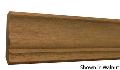 "Profile View of Crown Molding, product number CR-406-018-1-WA - 9/16"" x 4-3/16"" Walnut Crown - $7.76/ft sold by American Wood Moldings"