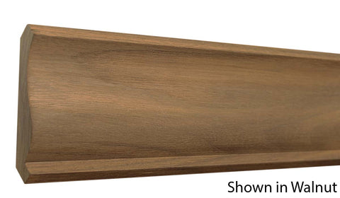 "Profile View of Crown Molding, product number CR-406-024-1-WA - 3/4"" x 4-3/16"" Walnut Crown - $7.76/ft sold by American Wood Moldings"
