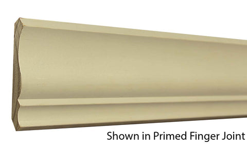 "Profile View of Crown Molding, product number CR-408-018-1-CP - 9/16"" x 4-1/4"" Clear Pine Crown - $2.04/ft sold by American Wood Moldings"