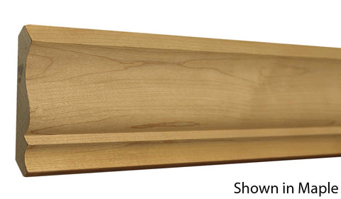 "Profile View of Crown Molding, product number CR-408-022-1-RO - 11/16"" x 4-1/4"" Red Oak Crown - $3.28/ft sold by American Wood Moldings"