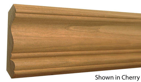 "Profile View of Crown Molding, product number CR-408-024-1-CH - 3/4"" x 4-1/4"" Cherry Crown - $4.92/ft sold by American Wood Moldings"
