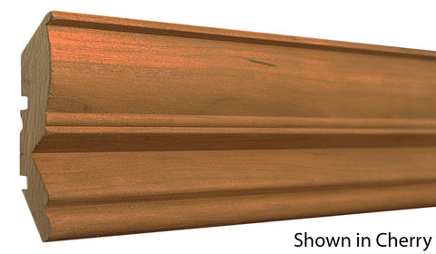 "Profile View of Crown Molding, product number CR-408-100-1-CH - 1"" x 4-1/4"" Cherry Crown - $6.56/ft sold by American Wood Moldings"