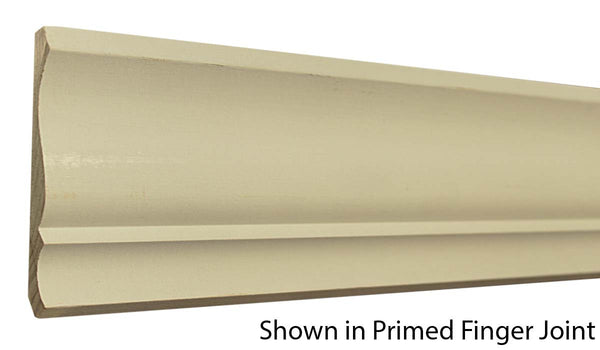 "Profile View of Crown Molding, product number CR-420-018-1-PF - 9/16"" x 4-5/8"" Primed Finger Joint Crown - $1.48/ft sold by American Wood Moldings"