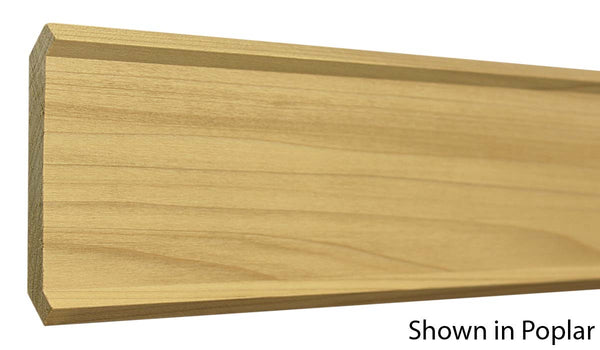 "Profile view of crown molding, product number CR470 3/4""x4-5/8"" Poplar $2.48/ft. sold by American Wood Moldings"