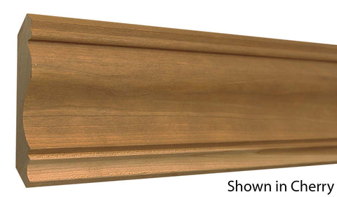 "Profile View of Crown Molding, product number CR-424-024-1-CH - 3/4"" x 4-3/4"" Cherry Crown - $5.48/ft sold by American Wood Moldings"