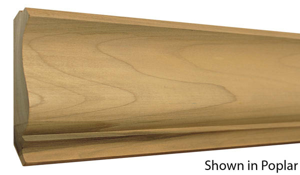"Profile view of crown molding, product number CR510 7/8""x5-1/8"" Poplar $2.16/ft. sold by American Wood Moldings"