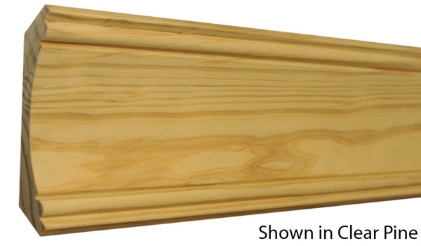 "Profile View of Crown Molding, product number CR-506-026-1-CP - 13/16"" x 5-3/16"" Clear Pine Crown - $4.40/ft sold by American Wood Moldings"