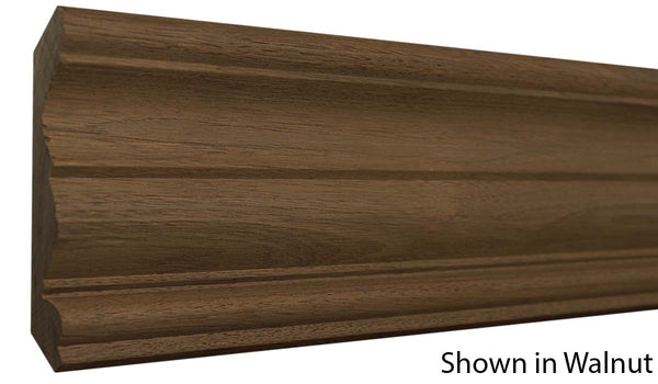"Profile view of crown molding, product number CR530 3/4""x5-1/4"" Ash $4.72/ft. sold by American Wood Moldings"