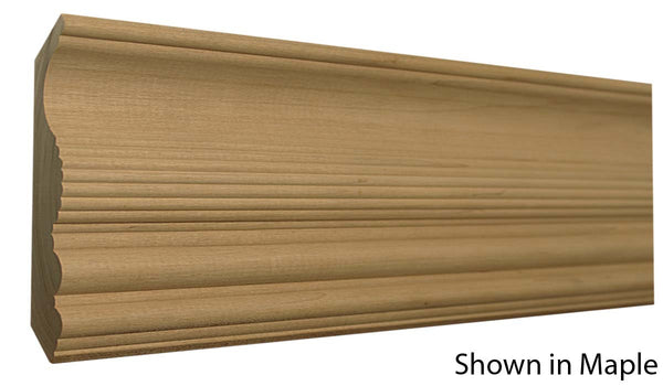 "Profile view of crown molding, product number CR540 7/8""x5-1/4"" Maple $5.24/ft. sold by American Wood Moldings"