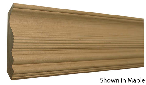 "Profile View of Crown Molding, product number CR-508-028-2-MA - 7/8"" x 5-1/4"" Maple Crown - $5.24/ft sold by American Wood Moldings"