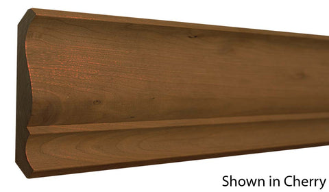 "Profile View of Crown Molding, product number CR-510-022-1-KPI - 11/16"" x 5-5/16"" Knotty Pine Crown - $1.76/ft sold by American Wood Moldings"