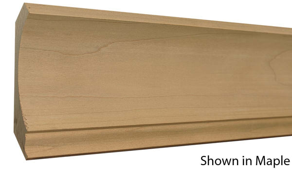 "Profile View of Crown Molding, product number CR-510-030-1-MA - 15/16"" x 5-5/16"" Maple Crown - $5.32/ft sold by American Wood Moldings"