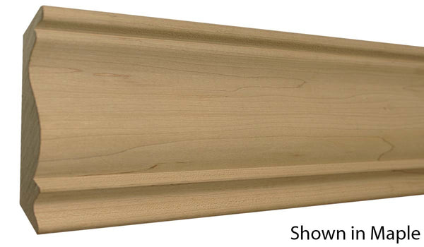 "Profile View of Crown Molding, product number CR-516-026-2-HMH - 13/16"" x 5-1/2"" Honduras Mahogany Crown - $13.92/ft sold by American Wood Moldings"