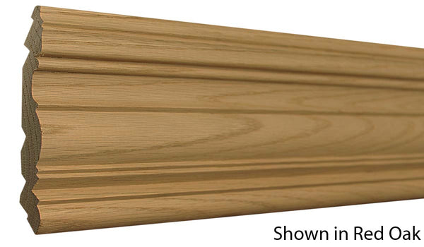 "Profile View of Crown Molding, product number CR-516-026-1-RO - 13/16"" x 5-1/2"" Red Oak Crown - $3.92/ft sold by American Wood Moldings"