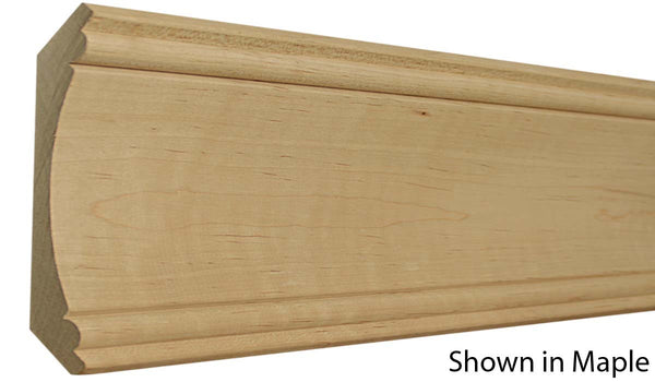 "Profile view of crown molding, product number CR610 1""x6-1/4"" Maple $8.32/ft. sold by American Wood Moldings"